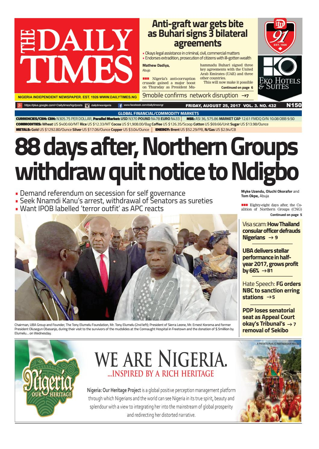 Dtn 25 8 17 by Daily Times of Nigeria - issuu