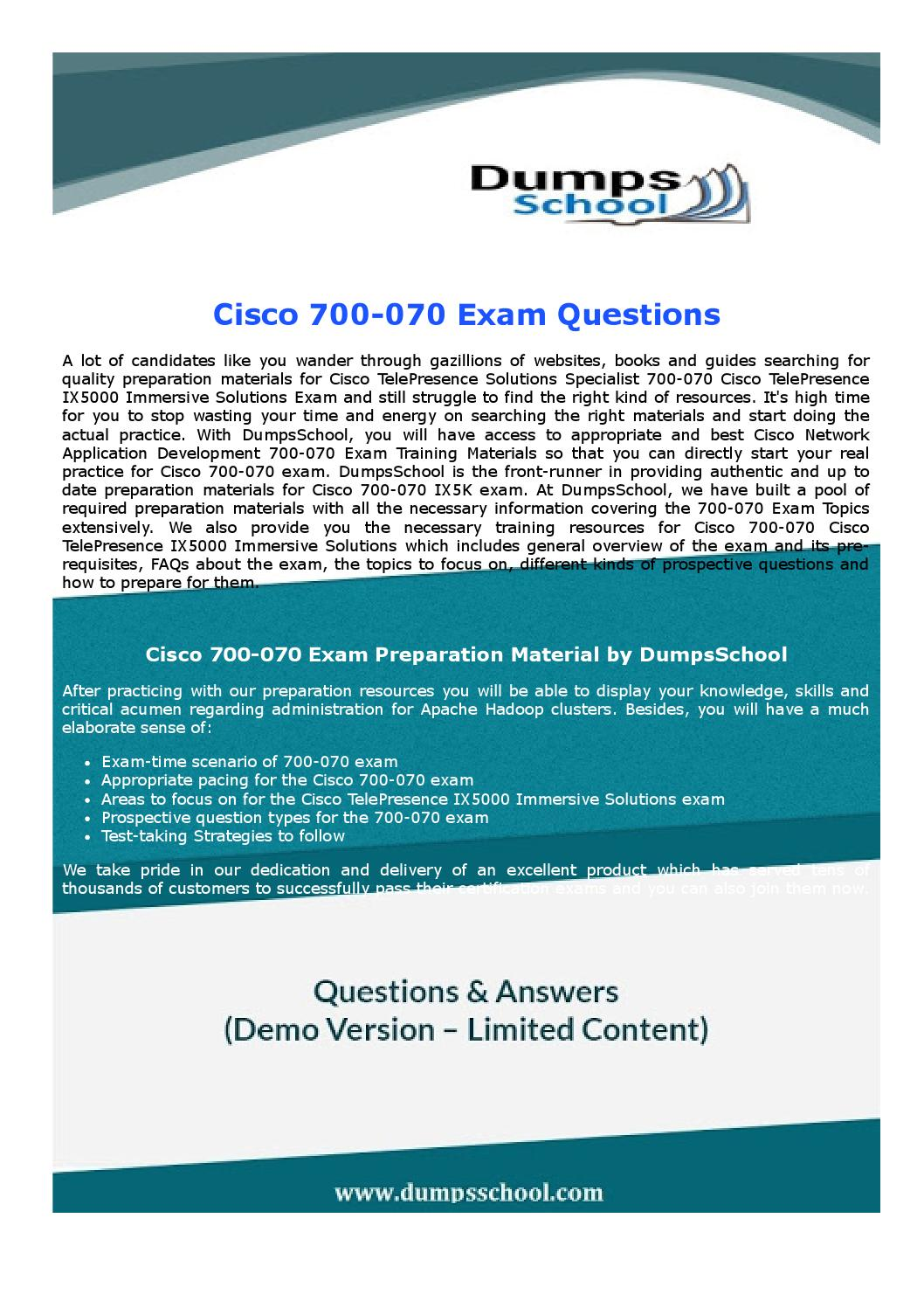 700 070 Cisco Test Practice Exam Dumps By Jamesjones Issuu