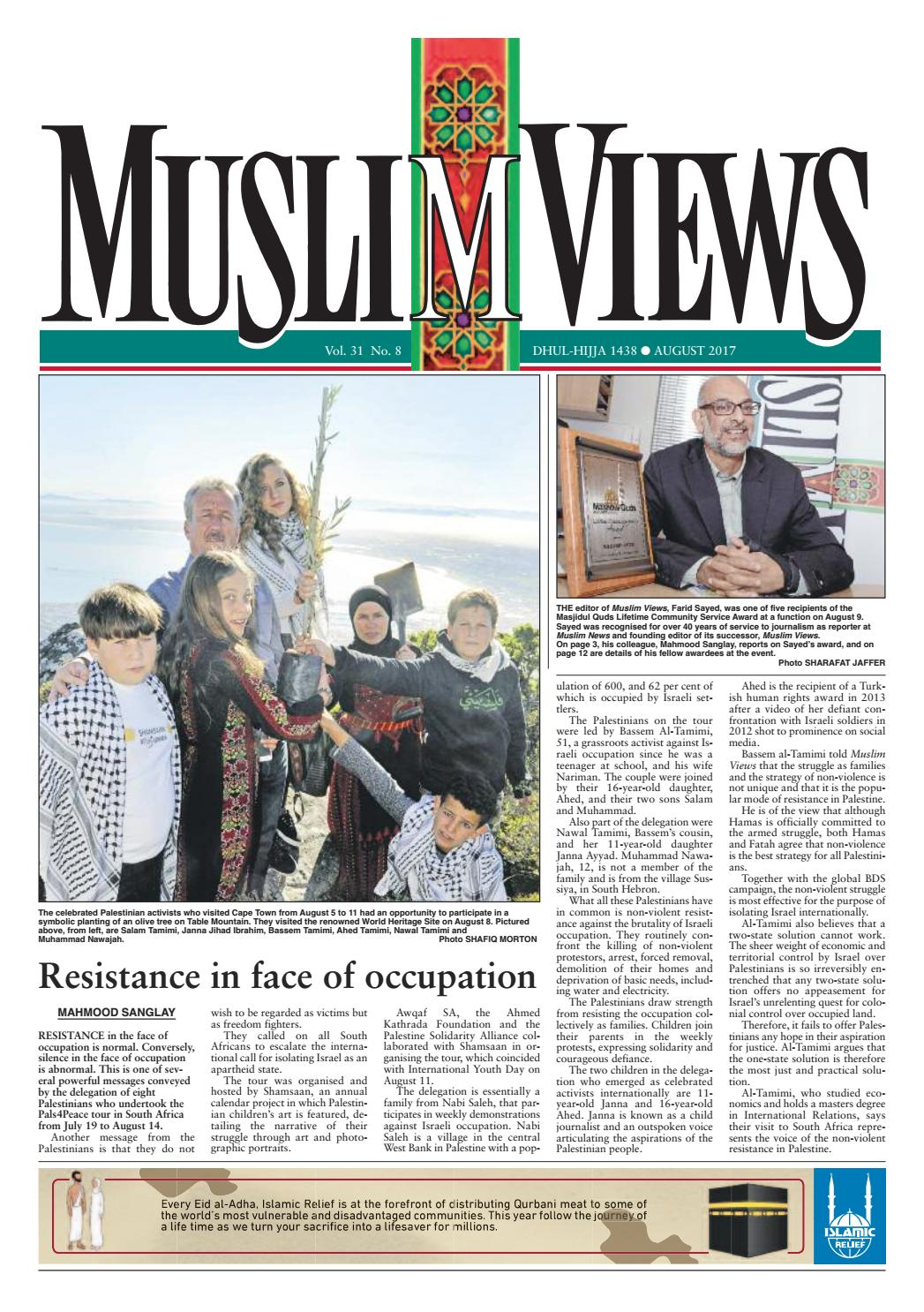 Muslim views august 2017 by muslim views issuu kristyandbryce Choice Image