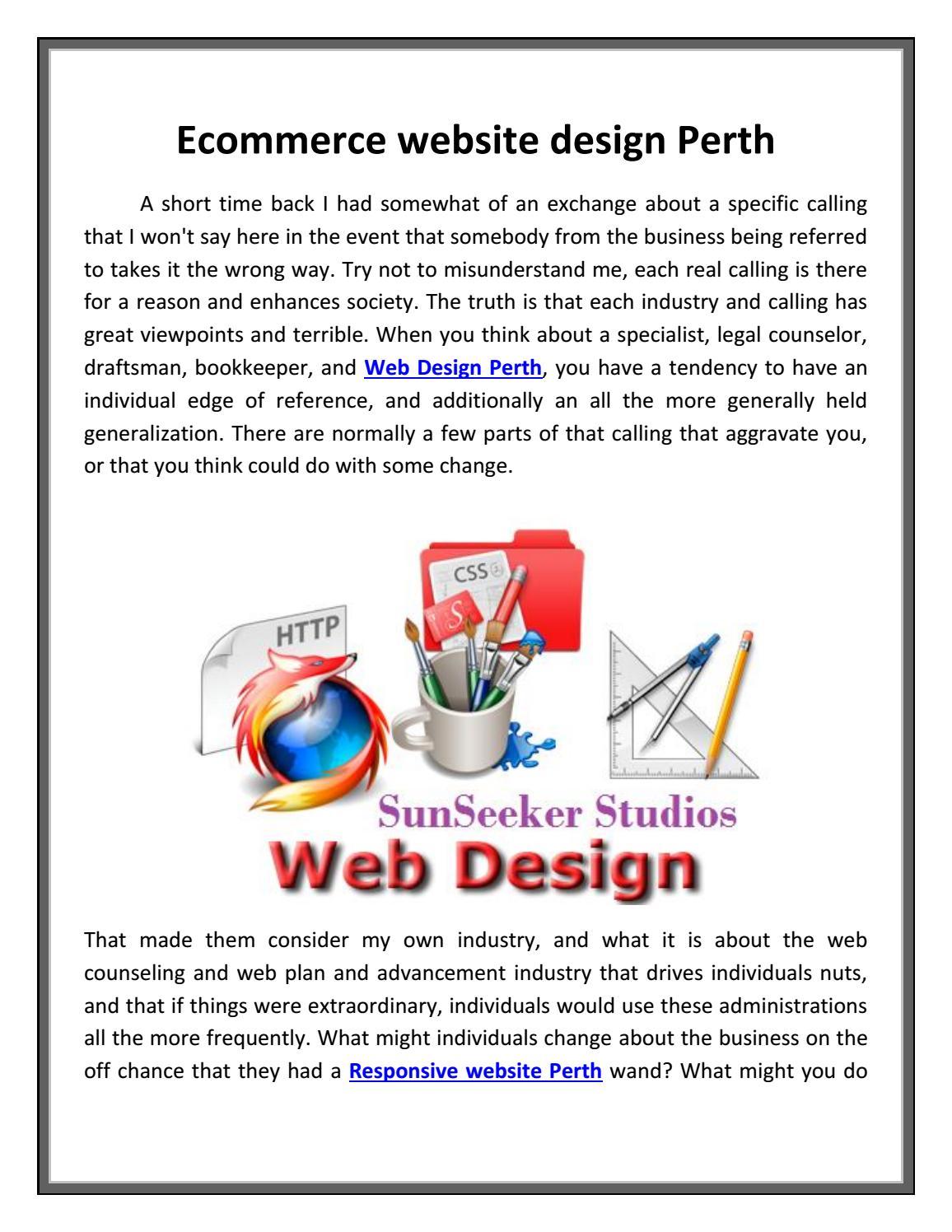 Ecommerce website design perth sunseekerstudios by SunSeeker