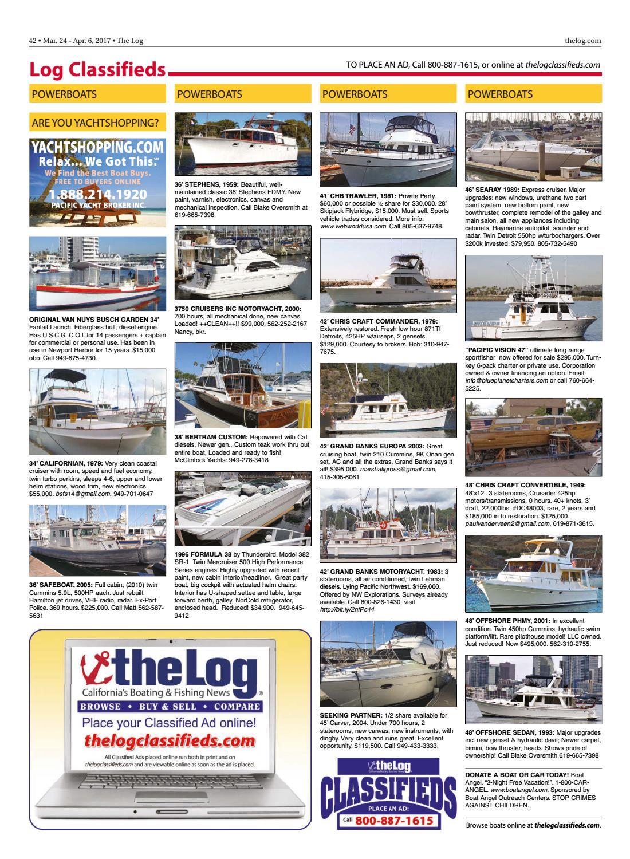 Mar  24 - Apr  6, 2017 – The Log Newspaper by Duncan