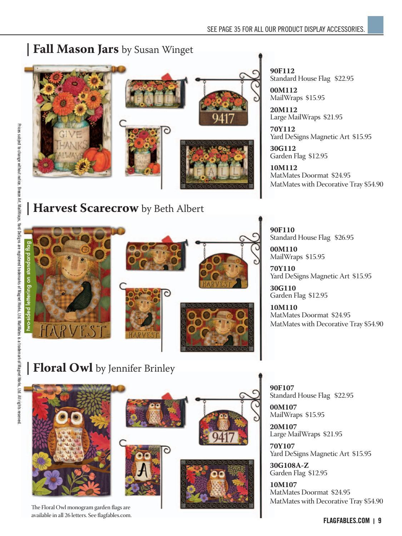Yard Designs Floral Owl Magnetic Sign