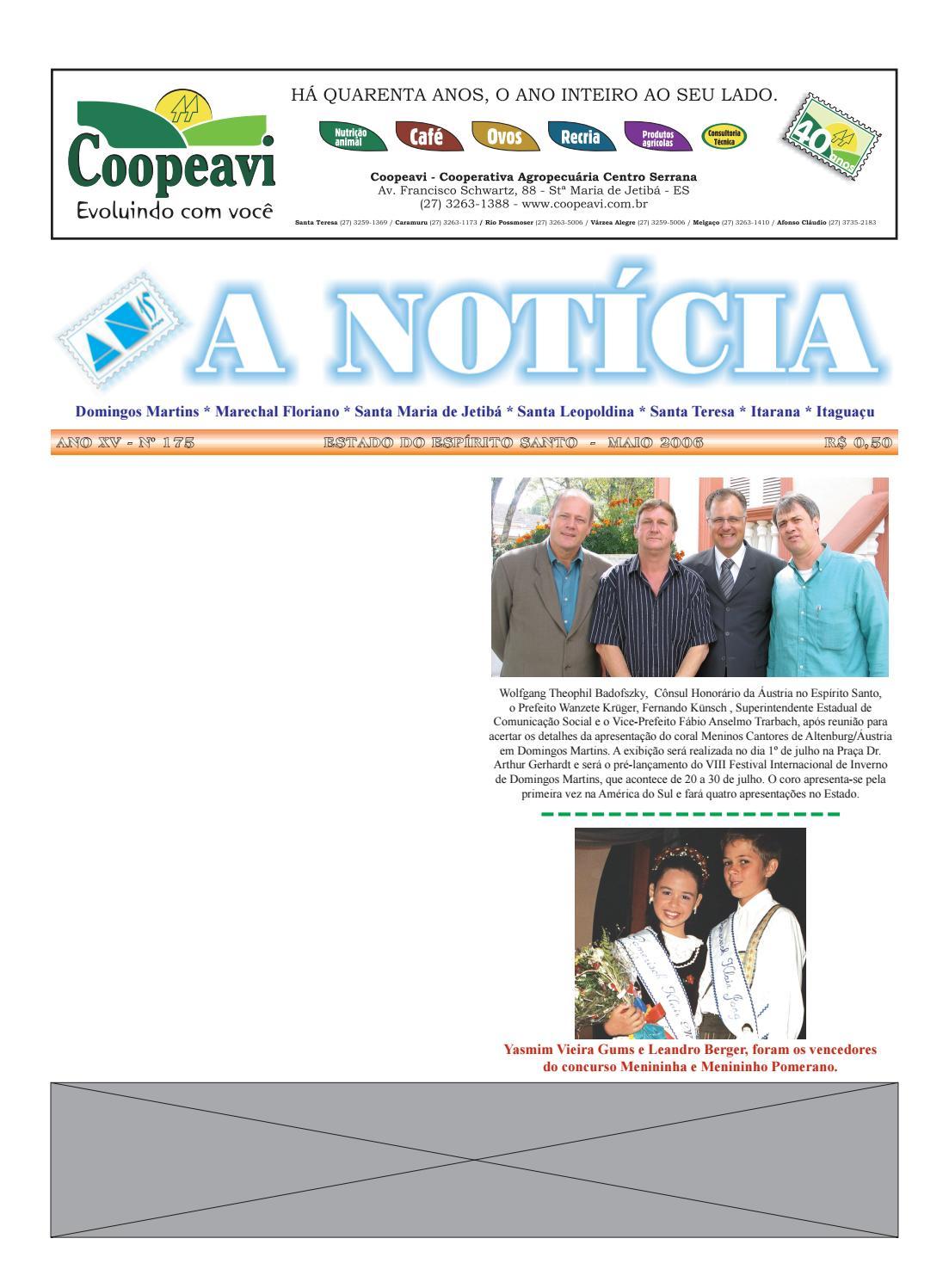 2d2dfc635f7 Jornal A Notícia - Edição 175 - Maio 2006 by Jornal Nova Notícia - issuu