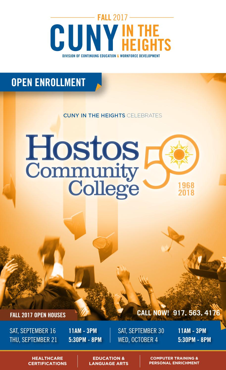 Fall 2017 CUNY in the Heights Catalog by Hostos Community College ...