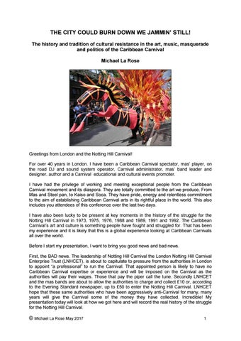 City could bun down mlr talk leeds carnival conference may 2017 page 1 malvernweather Gallery