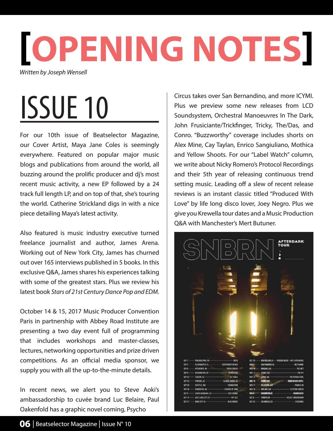 BEATSELECTOR Magazine Issue N°10 by BEATSELECTOR Magazine - issuu