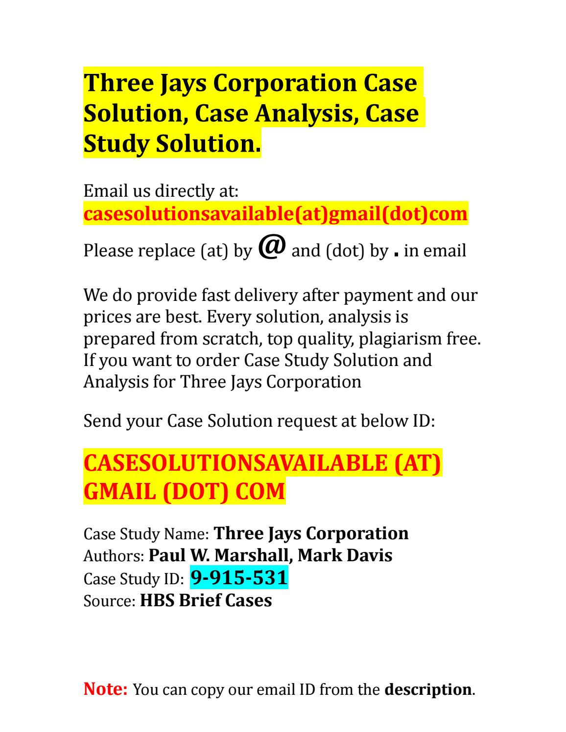 Case Study Solutions   Case Study Analyses  Intuit Management Consultancy www intuitconsultancy com Case Study    Outsourcing Solution for Accounting Introduction