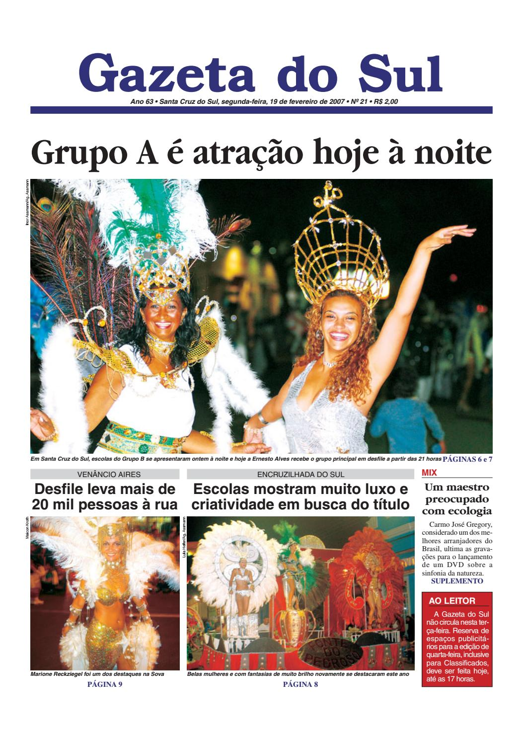 Jornal Gazeta do Sul Ano 63 Nº 21 by Portal Academia do Samba - issuu fb48f26357