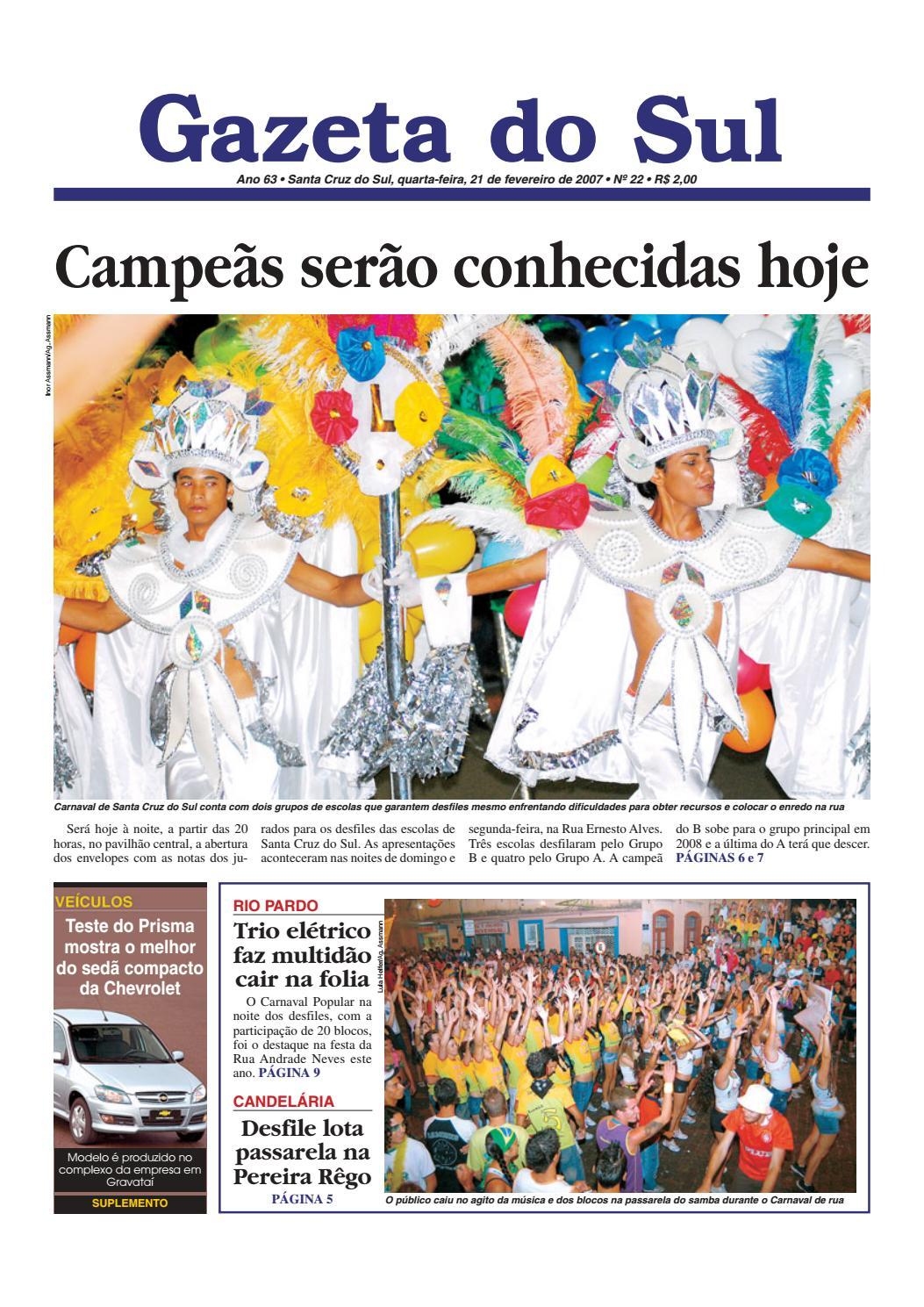 abce82c62d Jornal Gazeta do Sul Ano 63 Nº 22 by Portal Academia do Samba - issuu