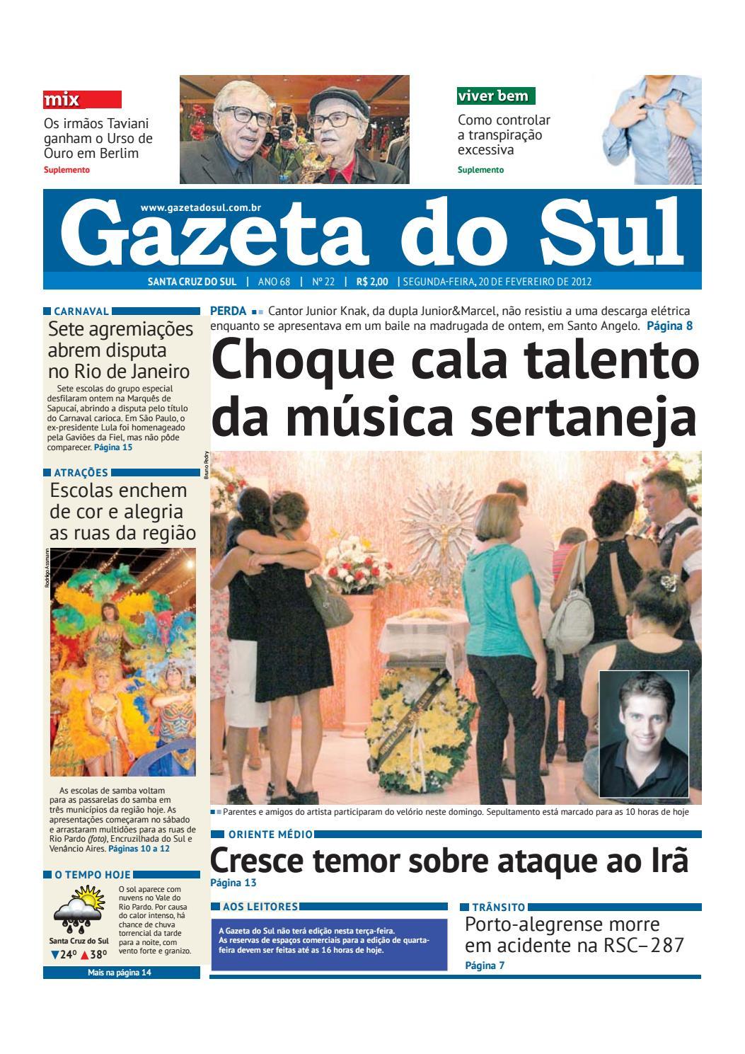 Jornal Gazeta do Sul Ano 68 Nº 22 by Portal Academia do Samba - issuu 6c0beb8426e46