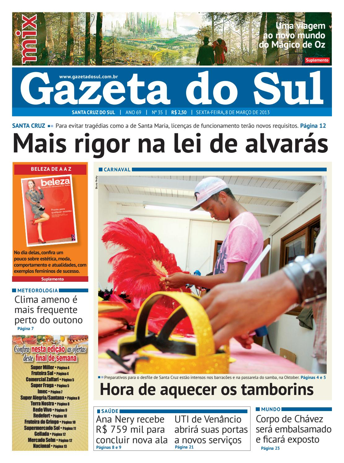 00a512531 Jornal Gazeta do Sul Ano 69 Nº 35 by Portal Academia do Samba - issuu