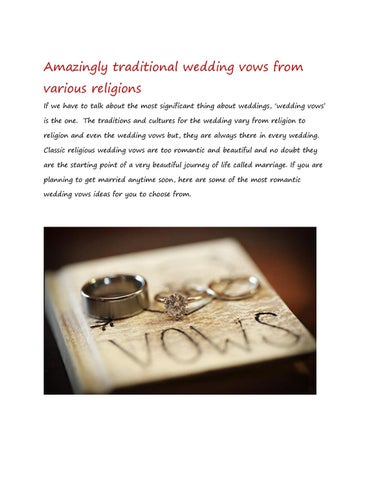 amazingly traditional wedding vows from various religions by