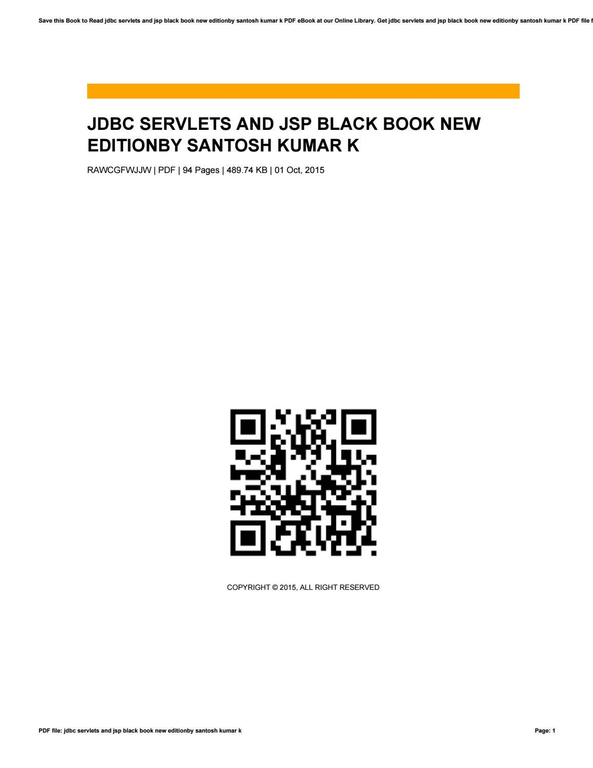 Jdbc Servlets And Jsp Black Book New Edition Pdf