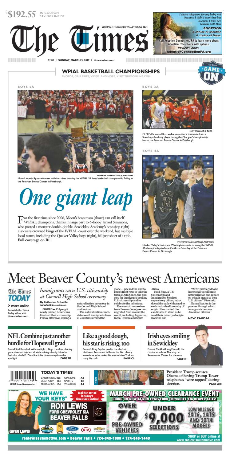 dbaa228f472 March 5 2017 (1) by Beaver County Times - issuu