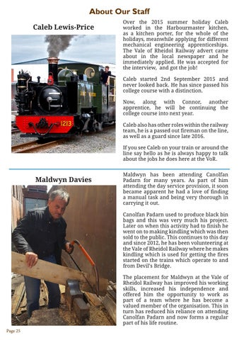 VoR Newsletter Issue 4 2017 by Vale of Rheidol Railway - issuu