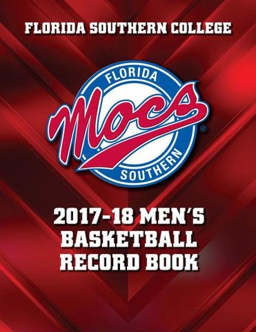 55e393f2c FSC 2017-18 Men s Basketball Record Book by Florida Southern College ...
