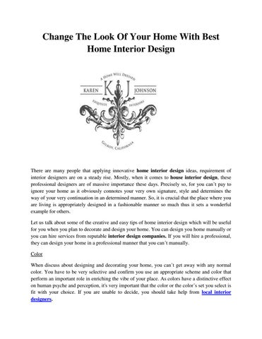 Change the look of your home with best home interior design by A ...