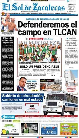 1dcc79ac3a2da El Sol de Zacatecas 27 de agosto 2017 by El Sol de Zacatecas - issuu