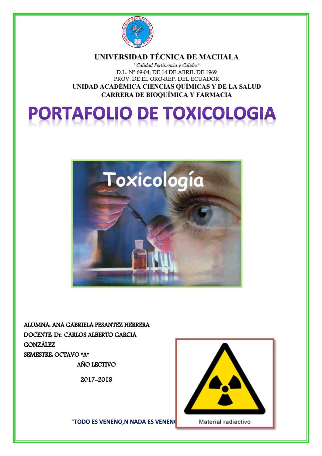 Primero y segundo hemisemestre de toxi by ANA GABRIELA PESANTEZ ...