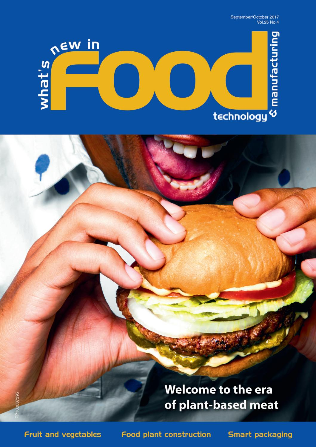 What's New in Food Technology & Manufacturing Sep/Oct 2017 by  Westwick-Farrow Media - issuu