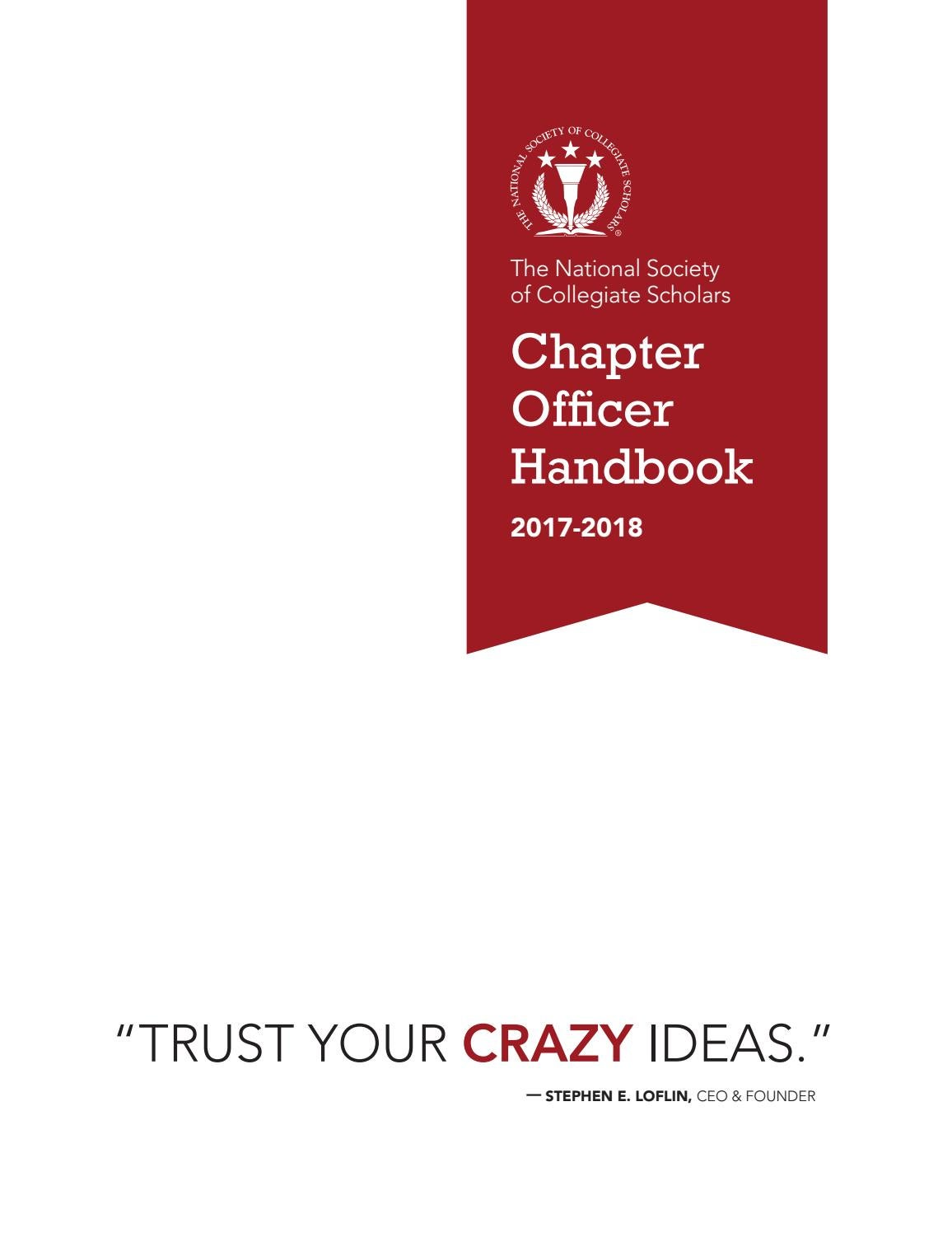 nscs officer handbook 2017 2018 by the national society of collegiate scholars issuu - Xecutive Resume Examples