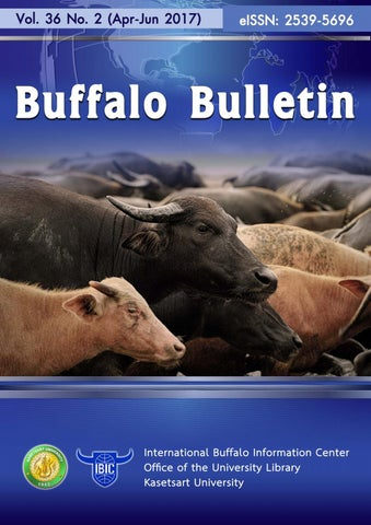 Buffalo Bulletin Vol 36 No 2 (Apr-Jun 2017) by Buffalo