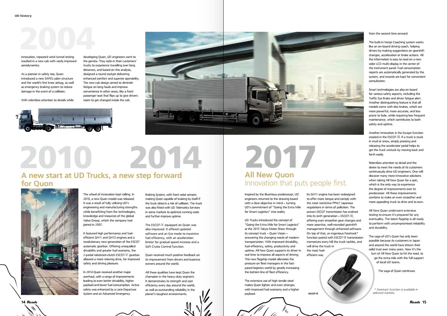 Roads #2, 2017 (Quon cover) by UD Trucks Corporation - issuu