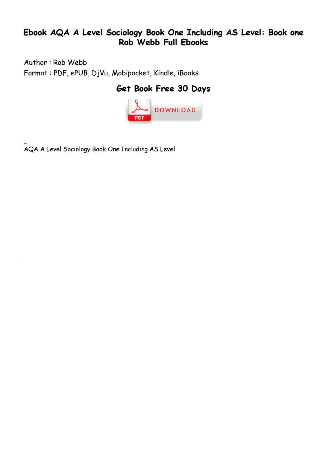 aqa a level sociology book one pdf free