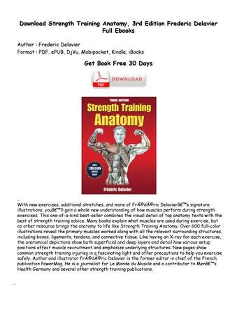 Strength training anatomy by henri - issuu