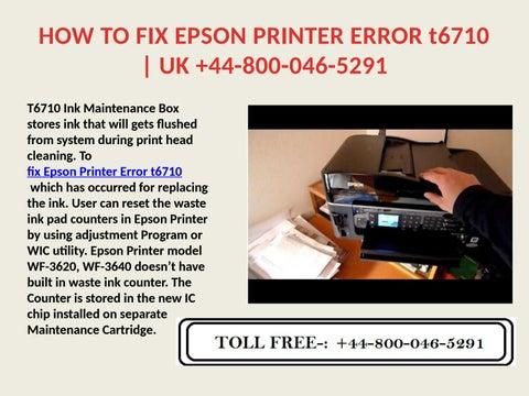Fix Epson Printer Error t6710| UK +44-800-046-5291 by