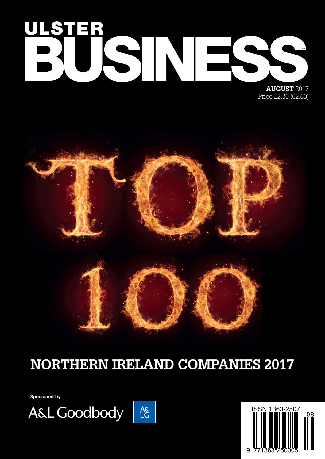 ulster business top 100 august 2017 by ulster business issuu