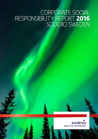 Corporate Social Responsibility Report 2016 Sodexo Sweden by