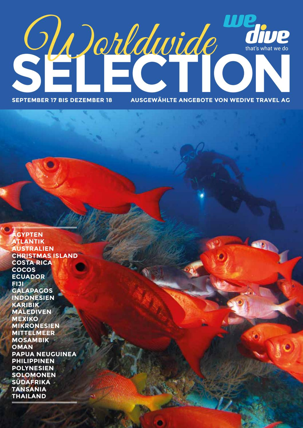 Selection Worldwide 2017 by WeDive Travel AG - issuu