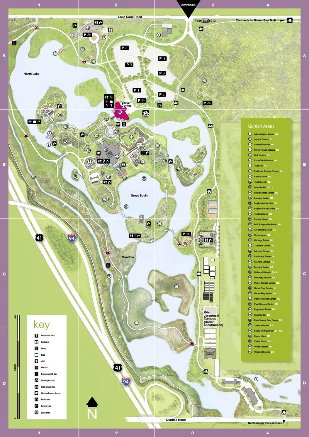 Garden Map By Chicago Botanic Garden Issuu