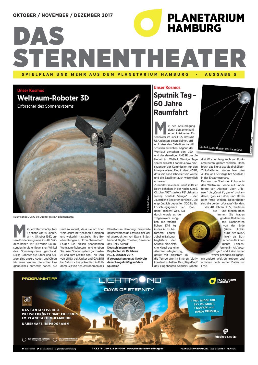 Programm Planetarium Hh Okt Dez 2017 By Planetarium Hamburg Issuu