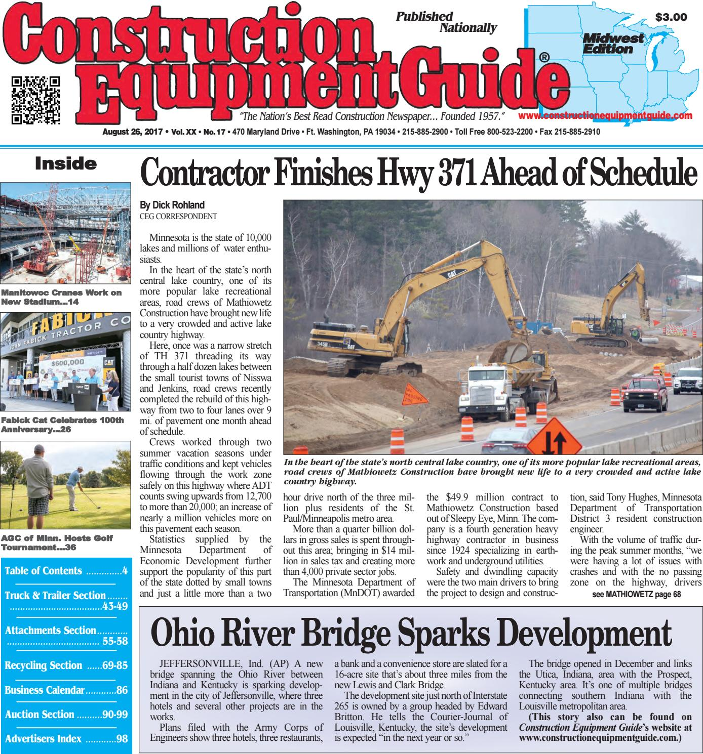 Midwest 17 August 26, 2017 by Construction Equipment Guide - issuu