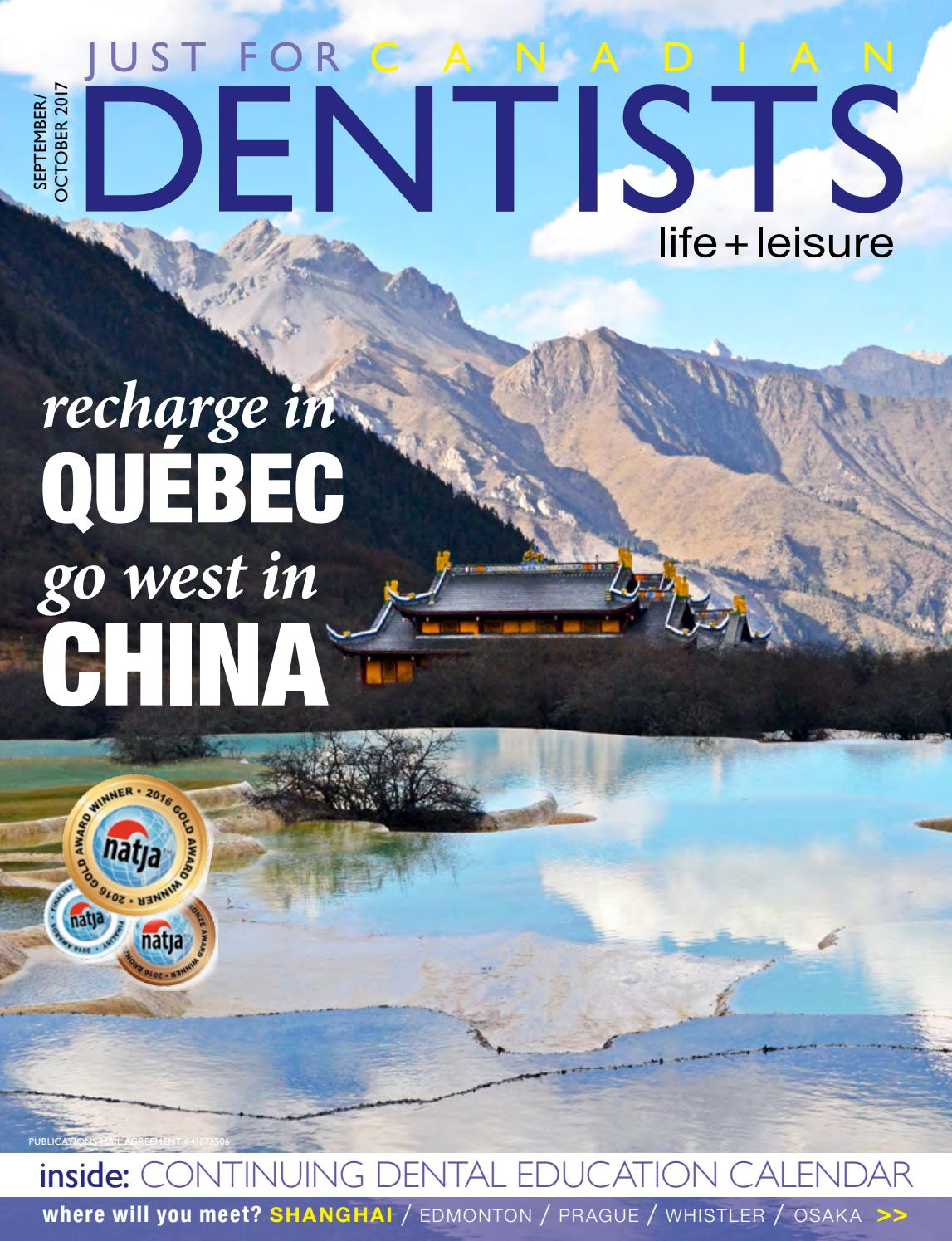 Just For Canadian Dentists Sep/Oct 2017 by Just For Canadian Dentists -  issuu