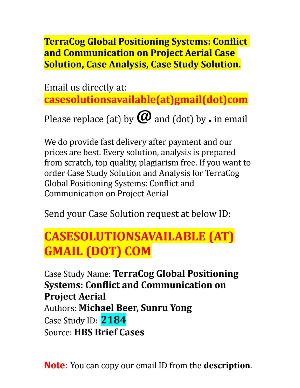 case study global analysis