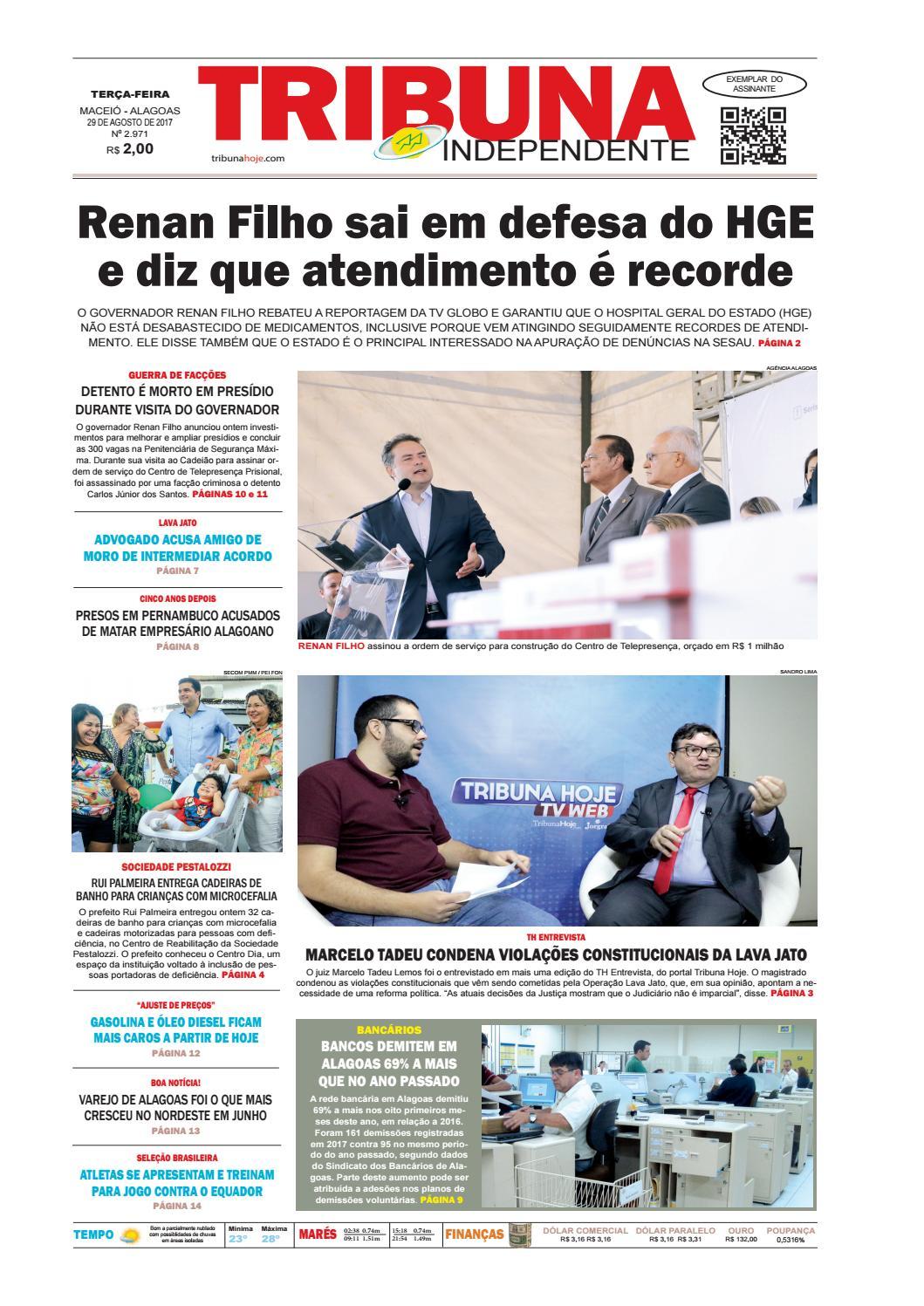 2dae06500e7 Edição número 2971 - 29 de agosto de 2017 by Tribuna Hoje - issuu