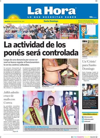 224fb667f4ed Santo Domingo 29 de agosto de 2017 by Diario La Hora Ecuador - issuu