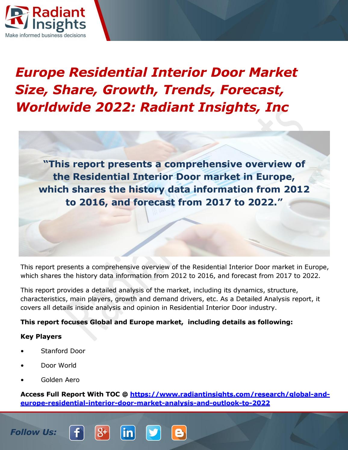 Europe Residential Interior Door Market