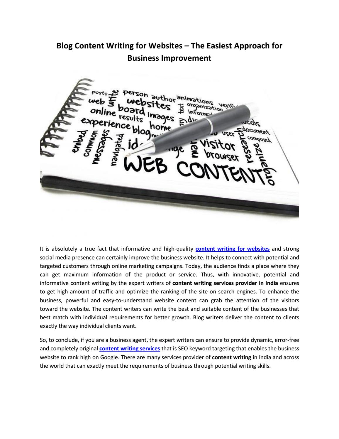 Blog Content Writing for Websites by Aashna Joshi - issuu