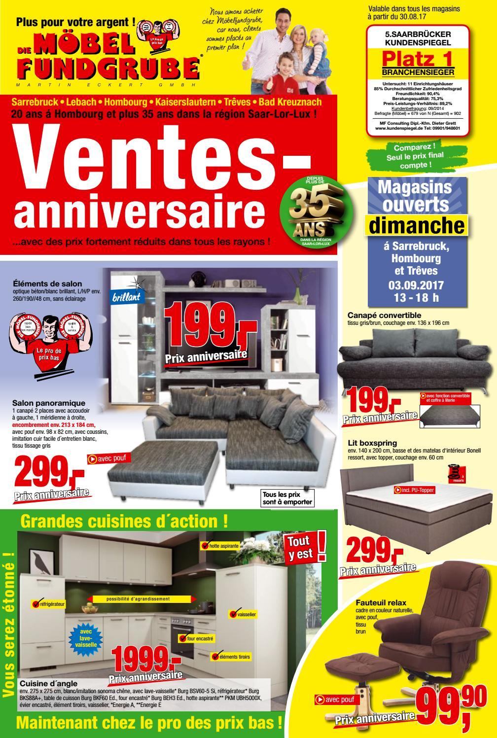 m bel fundgrube prospekt kw 35 francais by die m belfundgrube martin eckert gmbh issuu. Black Bedroom Furniture Sets. Home Design Ideas