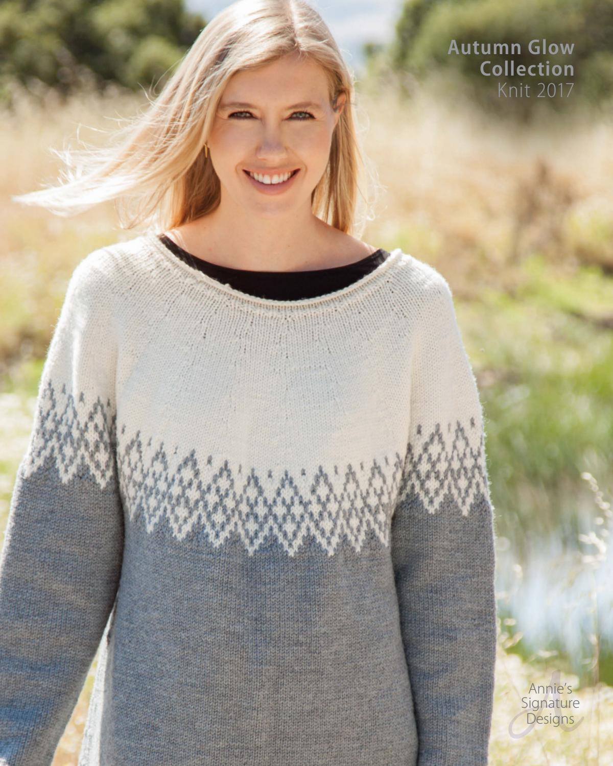 Annie\'s Autumn Glow Knit Pattern Collection 2017 by Annie\'s - issuu