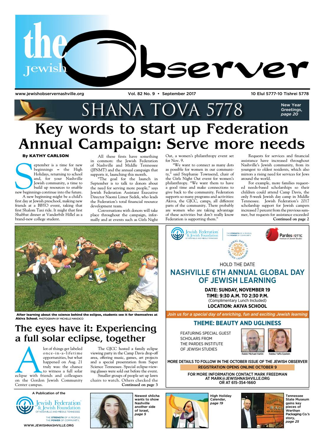 e607c2743 The Observer Vol. 82 No. 9 – September 2017 by Jewish Observer - issuu