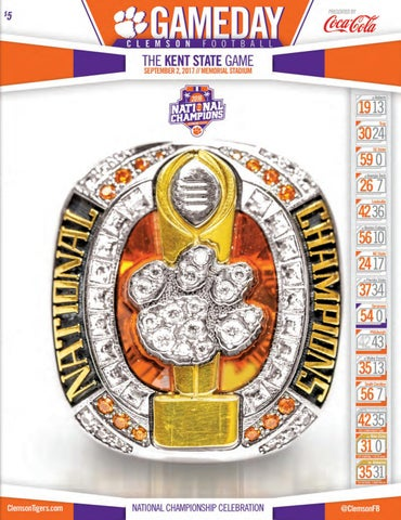 d859d4929 Kent State vs. Clemson Football Gameday Program - 9 2 17 by Brian ...