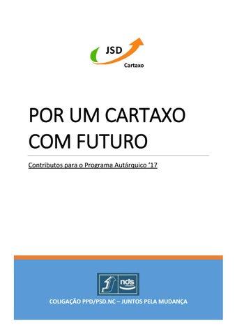 a1817161fd125 POR UM CARTAXO COM FUTURO Contributos para o Programa Autárquico  17