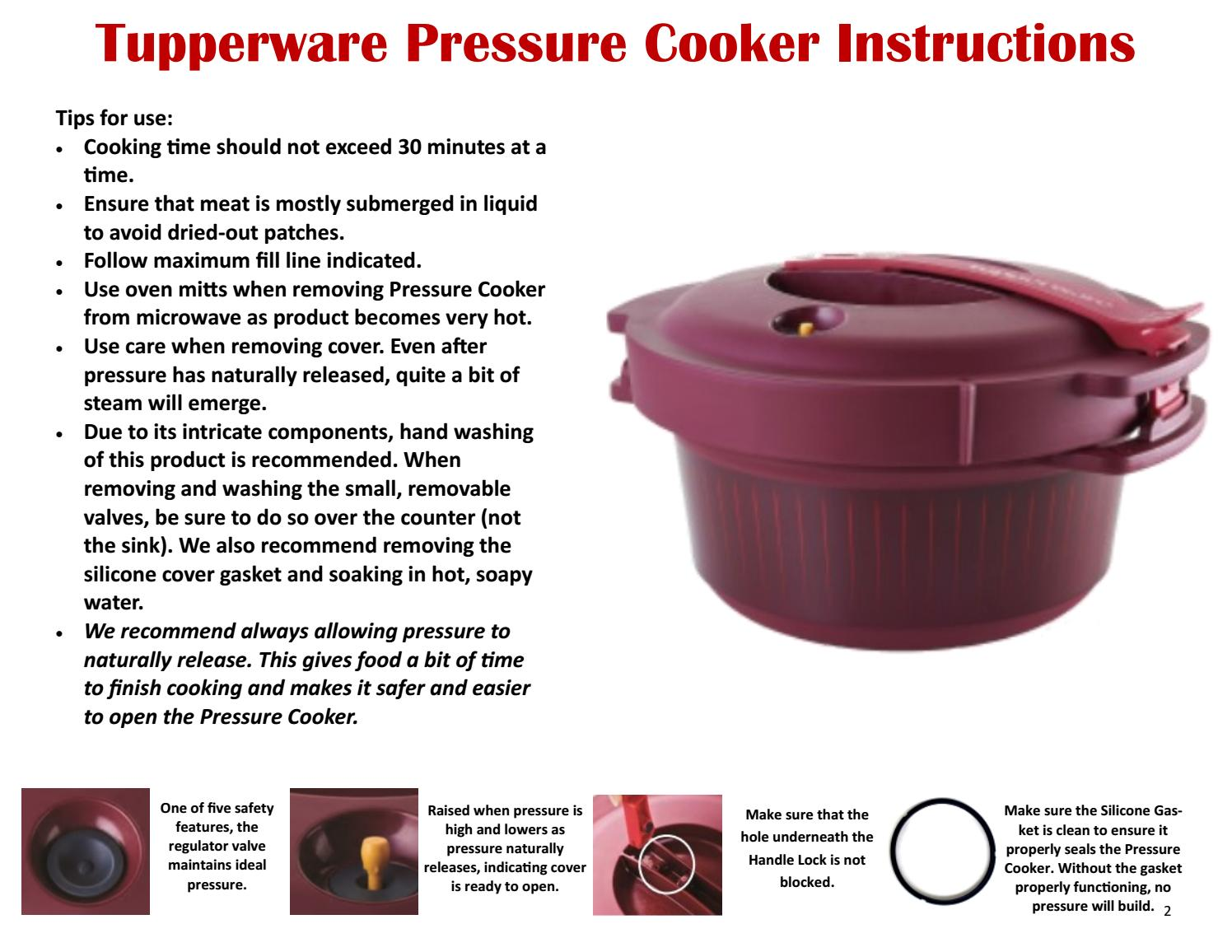 tupperware pressure cooker instructions