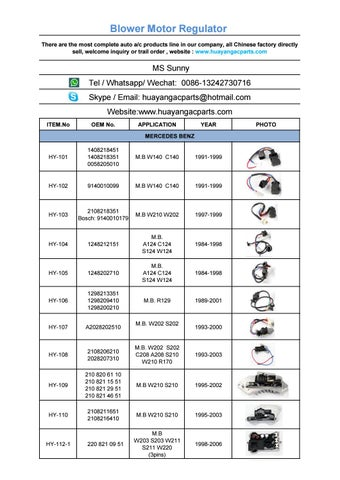 Blower motor resistor catalog by Hyoung Auto air cool - issuu