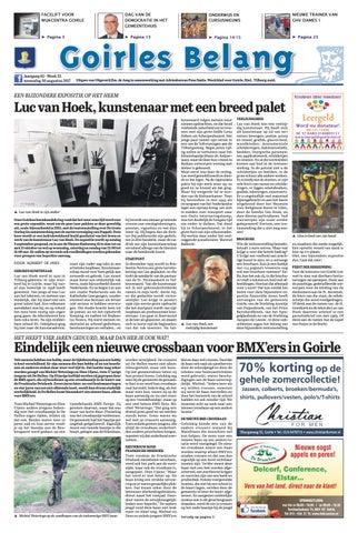 5a6c4ff6100 Goirles Belang 30-08-2017 by Uitgeverij Em de Jong - issuu